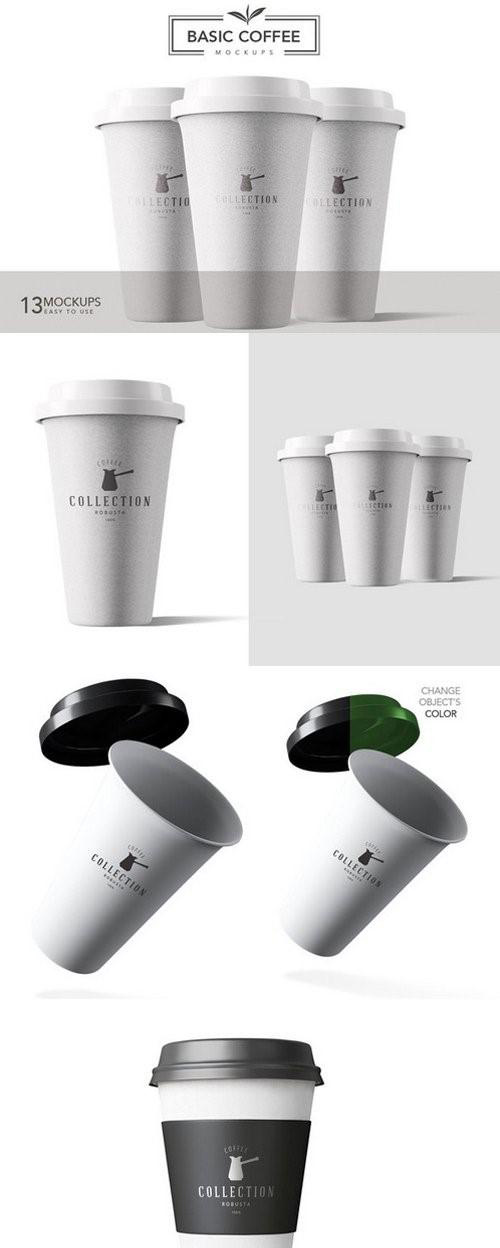 13 Basic Coffee Mockups 852962
