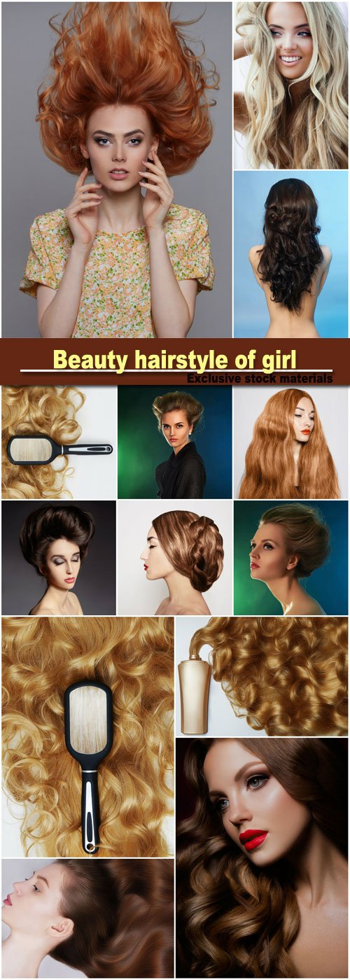 Beauty hairstyle of girl