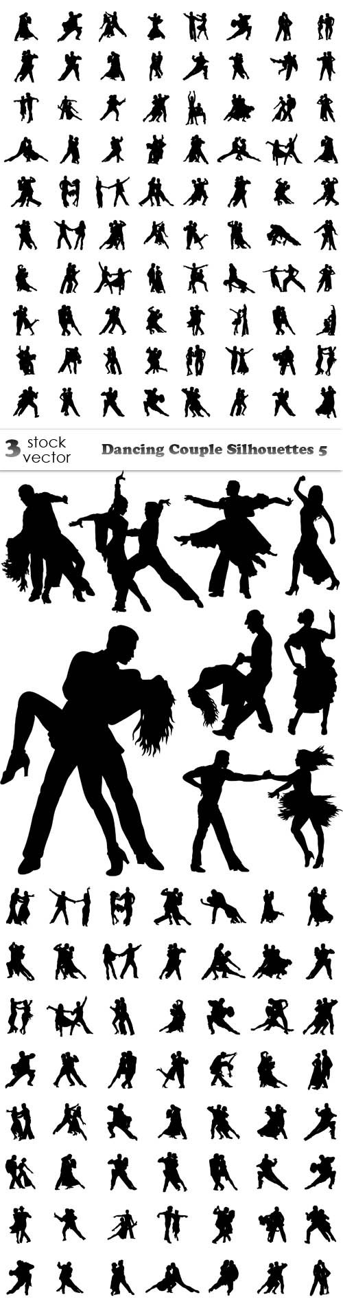 Vectors - Dancing Couple Silhouettes 5