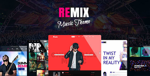 ThemeForest - Remix v2.1.3.1 - Music Band Club Party Event WP Theme - 8473753