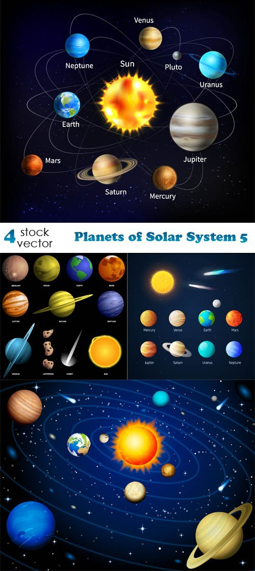 Vectors - Planets of Solar System 5
