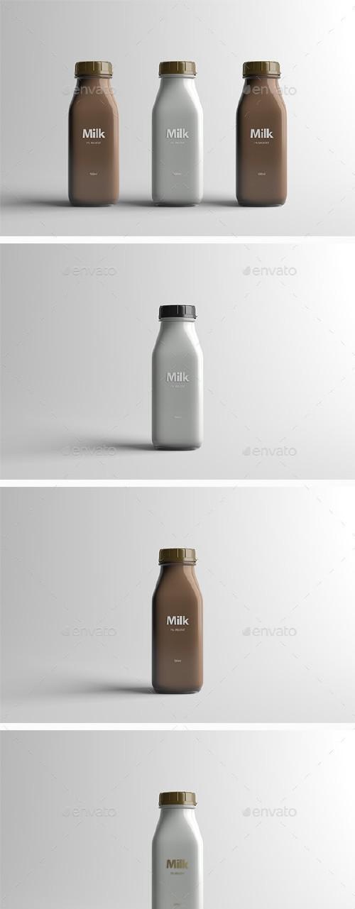 GR - Milk Bottle Packaging Mock-Up - 16079323