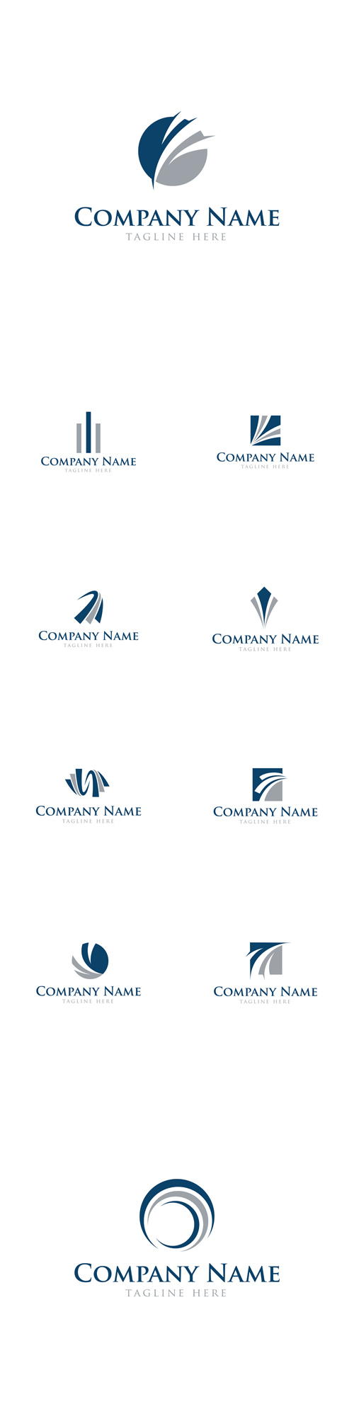 Vector Abstract Business Finance Logos
