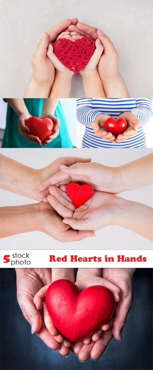 Photos - Red Hearts in Hands