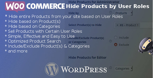 CodeCanyon - WooCommerce Hide Products by User Roles v3.7 - 8028838