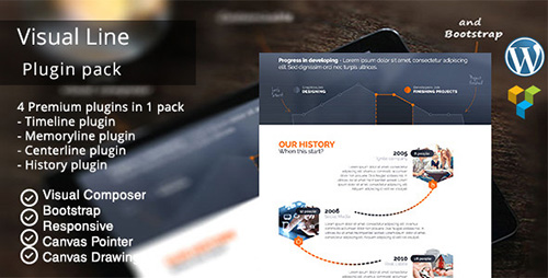 CodeCanyon - VisualLine v1.5.7 - Visual Composer Timeline Addons Pack - 12147228