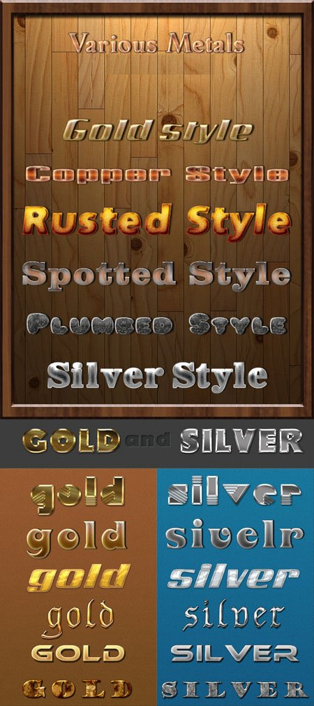 Gold, Silver and Metal Styles for Photoshop