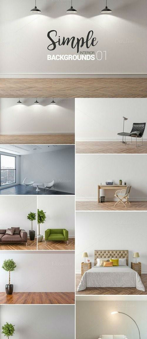 10 x Simple Interior Backgrounds -01 - 902250