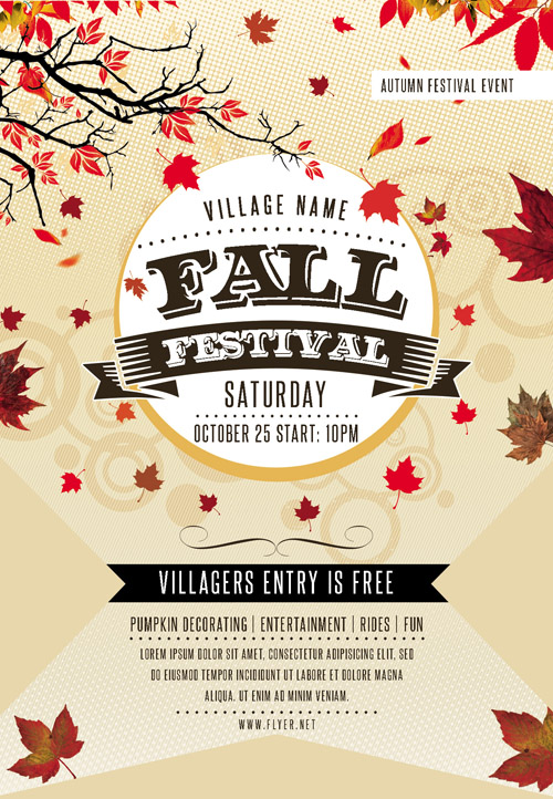 Flyer Template - Fall Festival Vol 2 + Facebook Cover