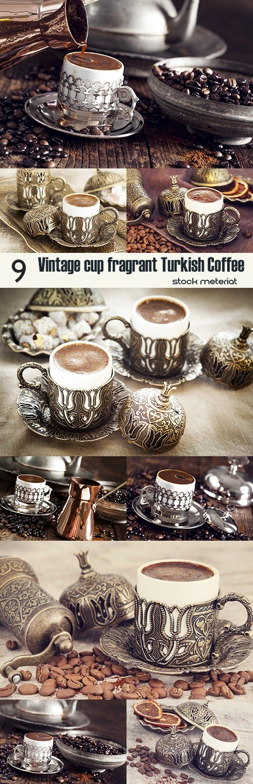 Vintage cup fragrant Turkish Coffee