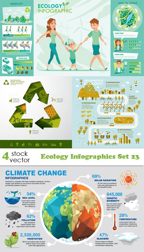 Vectors - Ecology Infographics Set 23