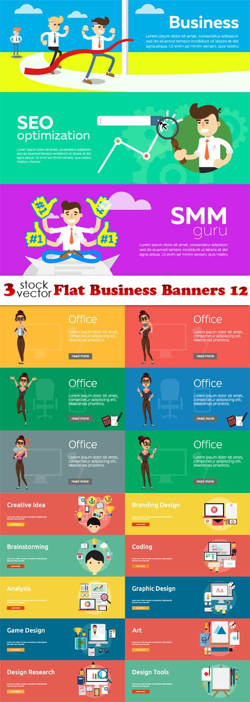 Vectors - Flat Business Banners 12