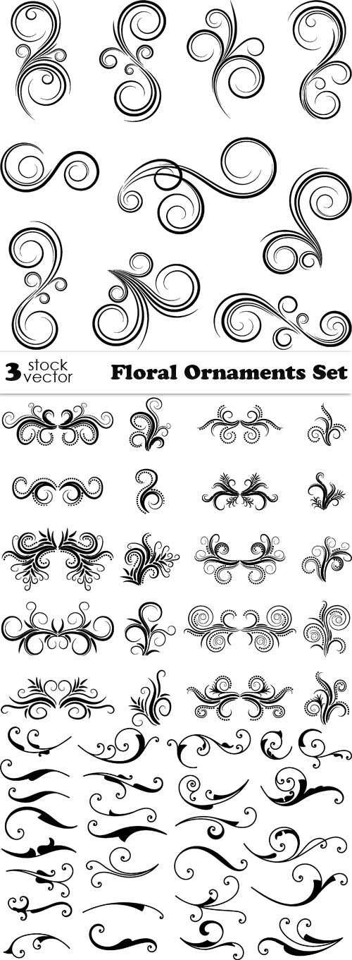 Vectors - Floral Ornaments Set