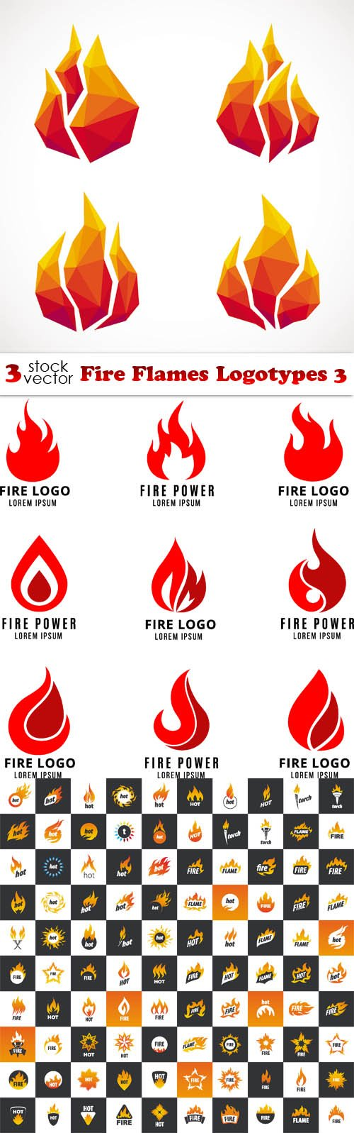 Vectors - Fire Flames Logotypes 3