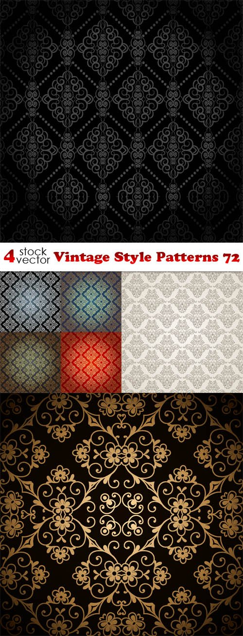 Vectors - Vintage Style Patterns 72