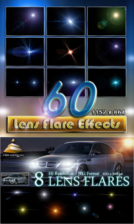 68 Hi-Res Lens Flares Effects