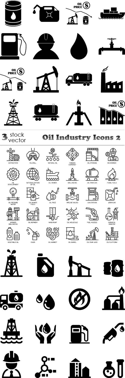 Vectors - Oil Industry Icons 2