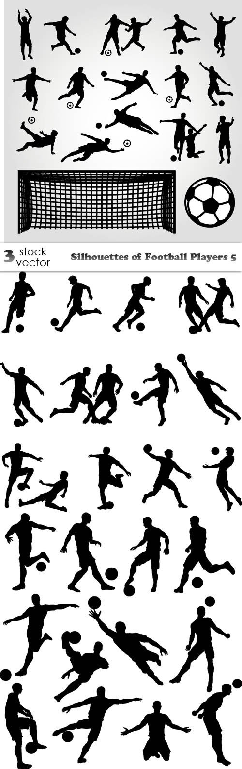 Vectors - Silhouettes of Football Players 5