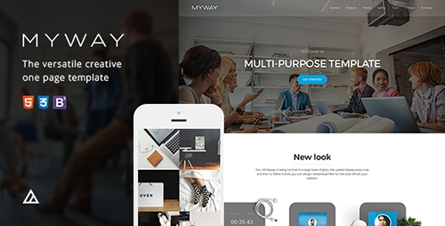 ThemeForest - Myway v2.5 - Onepage Bootstrap Parallax Retina Template - 4058880