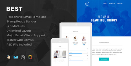 ThemeForest - Best v1.0 - Responsive Email Template - 15808736