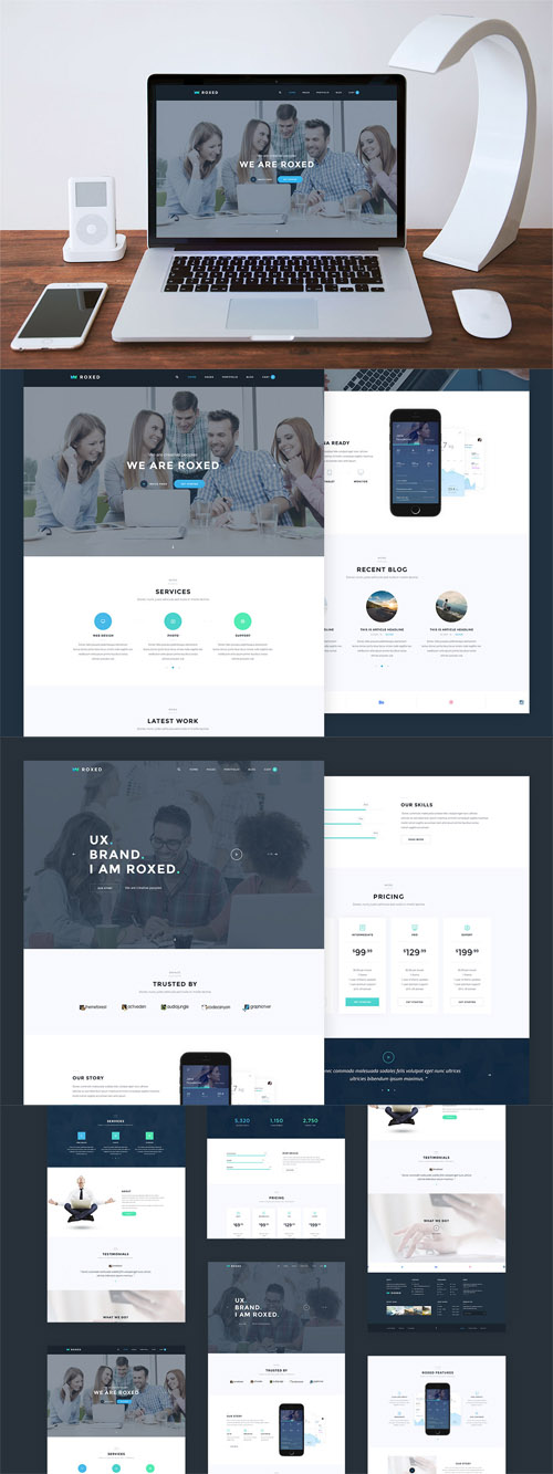 Roxed - Landing Page PSD Template