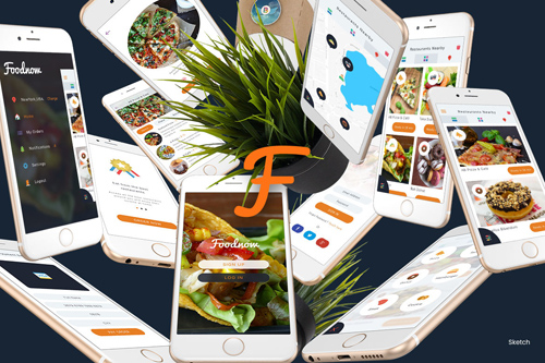 Foodnow - Sketch Mobile UI Kit