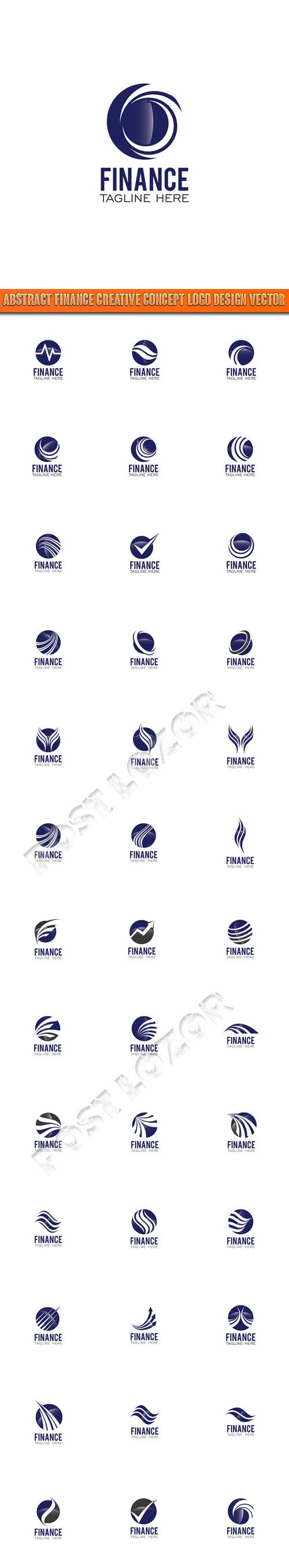 Abstract Finance Creative Concept Logo Design vector