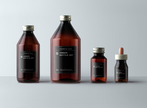 Amber Bottles Cosmetic Packaging 187 Nitrogfx Download