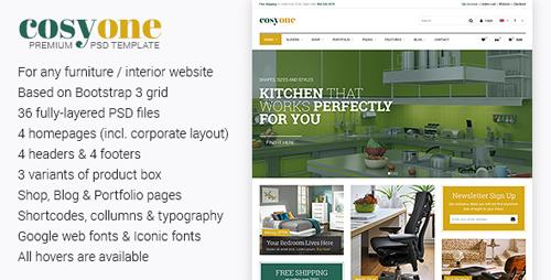 CosyOne - Premium Furniture/Interior PSD Template 7874550
