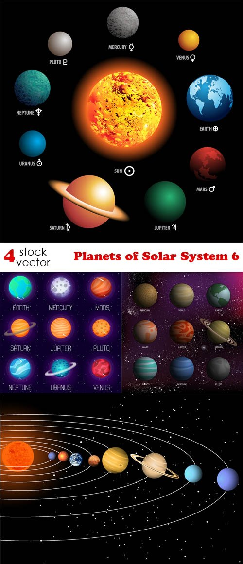 Vectors - Planets of Solar System 6