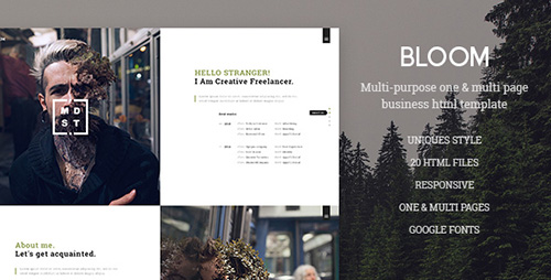 ThemeForest - Bloom v1.0 - One & Multi Page Business HTML Template - 17603004