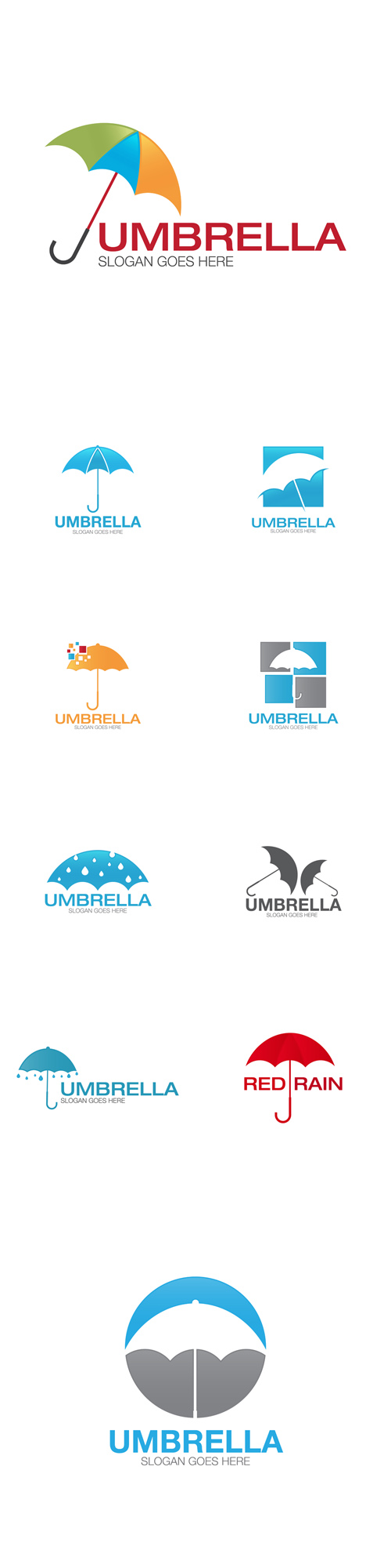 Vector Umbrella Logos