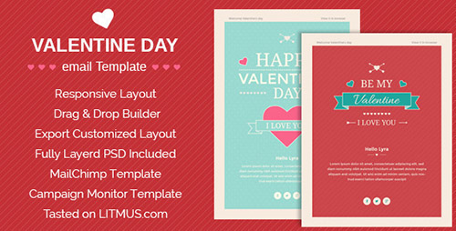ThemeForest - Happy Valentine wishes v1.0.0 - Email Template + ThemeBuilder Access - 14643592