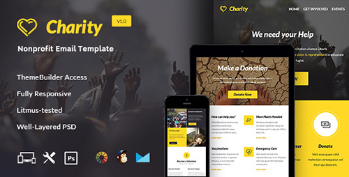ThemeForest - Charity v1.0.0 - Nonprofit E-newsletter + Builder Access - 13308495