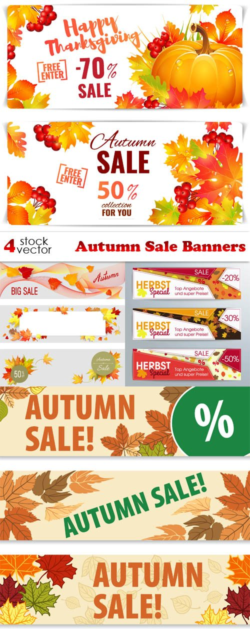 Vectors - Autumn Sale Banners