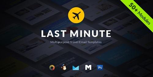 ThemeForest - Last Minute v1.0.0 - Multipurpose Hotel Travel E-Newsletter + Builder Access - 16481192