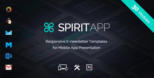 ThemeForest - SpiritApp v1.0.0 - Multipurpose Mobile App E-Newsletter + Builder Access - 16348897