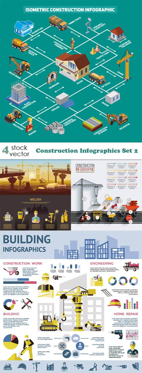Vectors - Construction Infographics Set 2