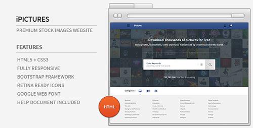 ThemeForest - iPictures v1.0 - HTML Responsive Stock Image Website - 5069937