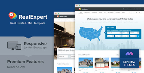 ThemeForest - Real Expert v1.0 - Responsive Real Estate HTML Template - 6258353