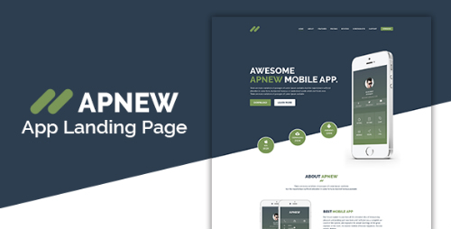 ApNew - App Landing PSD Template 16070040