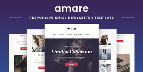 ThemeForest - Amare v1.1 - Responsive Email & Newsletter Template - 14711805