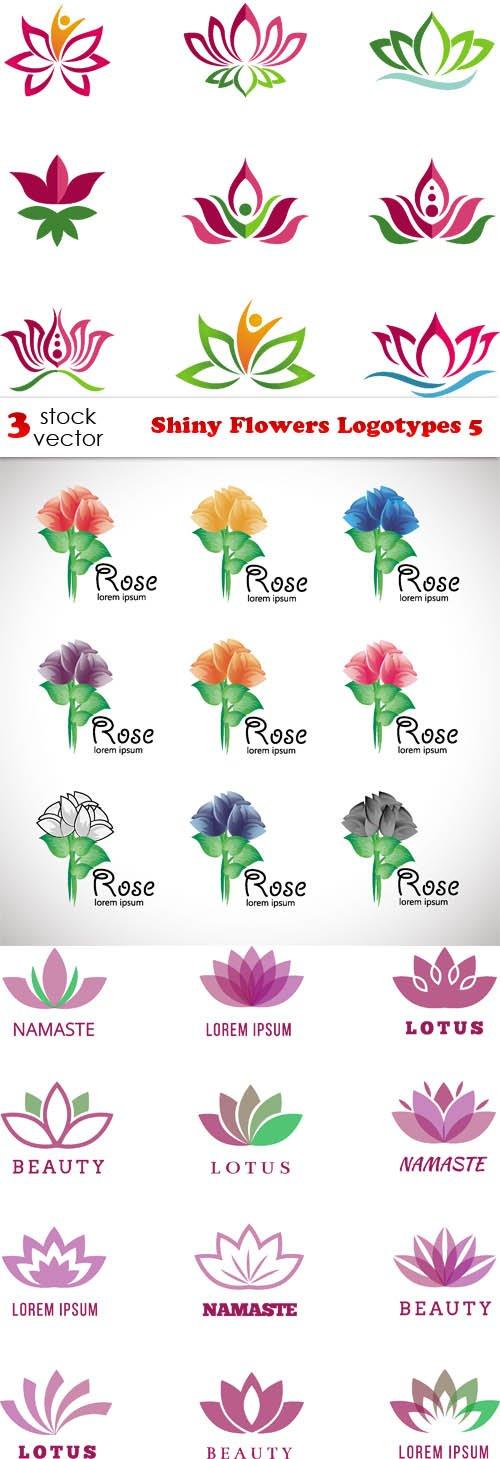 Vectors - Shiny Flowers Logotypes 5