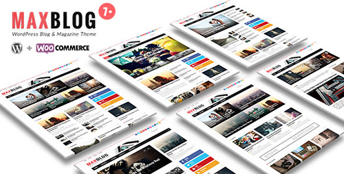 ThemeForest - MaxBlog v7.0 - Flat News Magazine Blog WP - 9728399