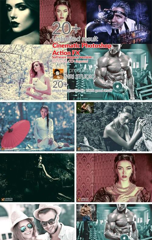 Cinematic Photoshop Action FX - 936834