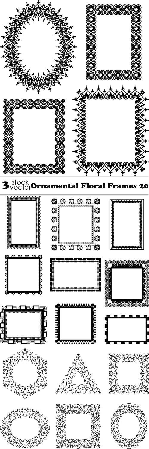 Vectors - Ornamental Floral Frames 20
