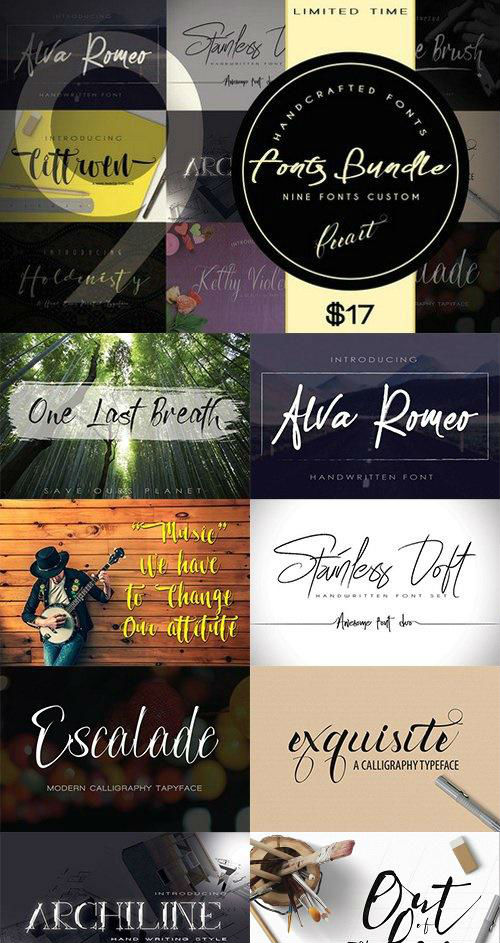 Fonts Bundle - 928964