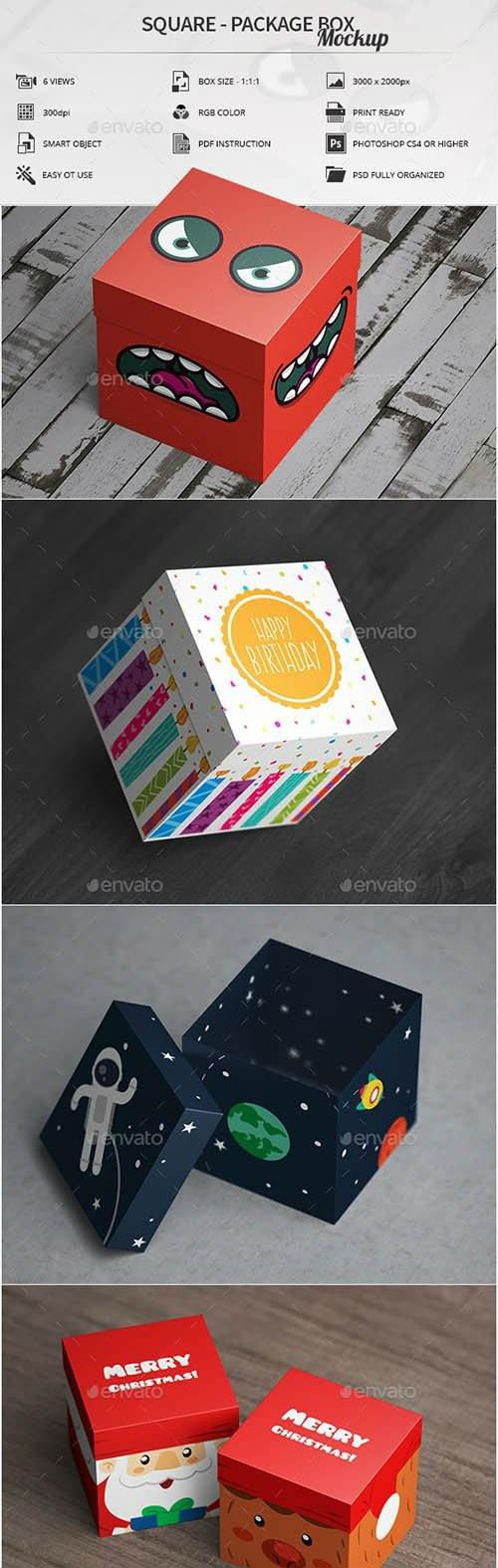 Package Box Mockup - 16435967