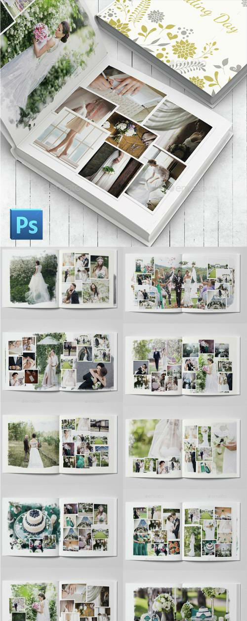 Wedding Photobook Template - 14911105