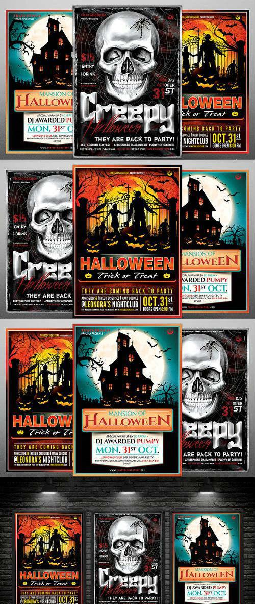 Halloween Flyer Bundle V7 - 933598